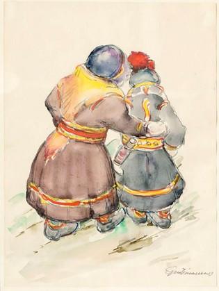Samar nálægt Inari í Finlandi 1953 – Sami people close to Inari, Finland