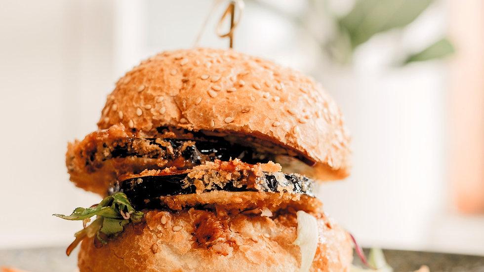 Panko crumb Eggplant Burger