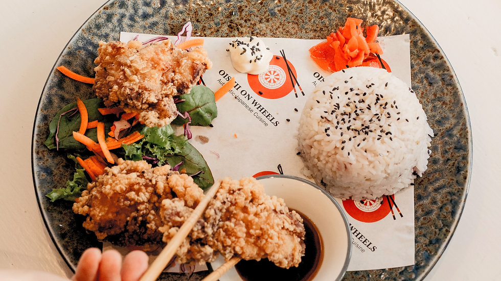 Karaage (fried chicken) 3 Pieces with rice