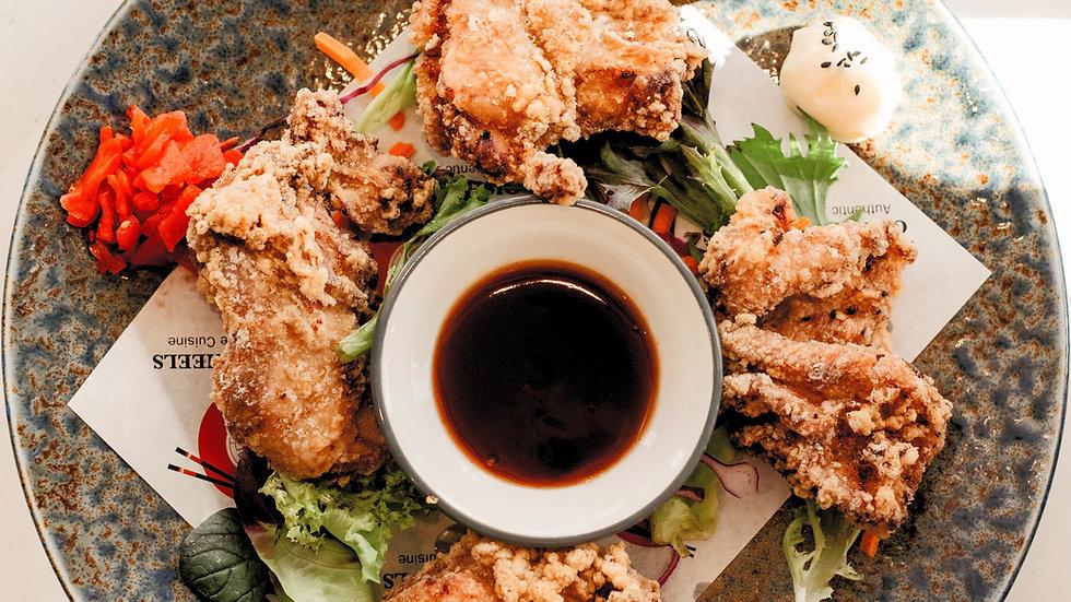 Karaage (fried chicken)  4 Pieces Dinner