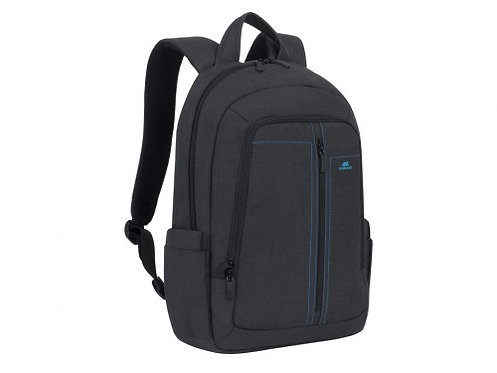 "16""/15"" NB backpack - RivaCase 7560 Canvas Black Laptop"