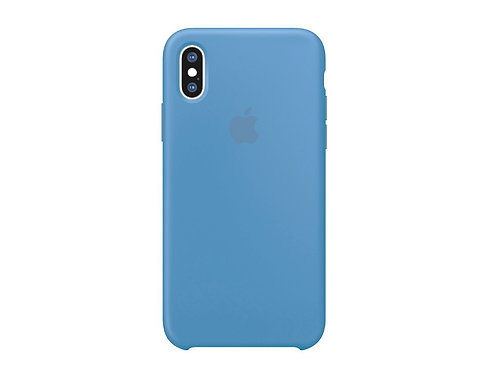 Silicone case for iPhone XS Sea Blue