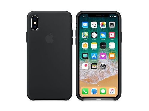 Silicone case for iPhone X Black