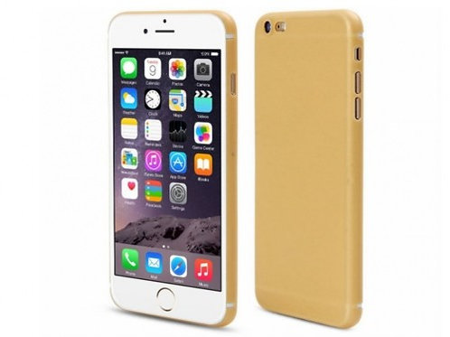 Plastic material slim soft cover case iPhone 7 Gold