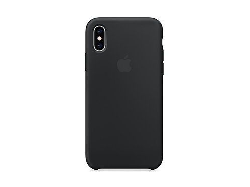 Silicone case for iPhone XS Black