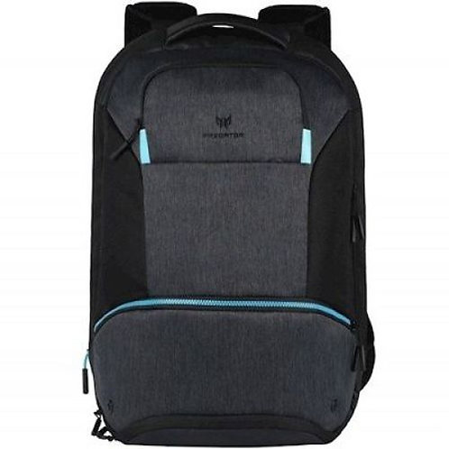 ACER PREDATOR HYBRID BACKPACK PBG810 WATER RESISTANT EXTERIOR, BLACK/ TEAL BLUE