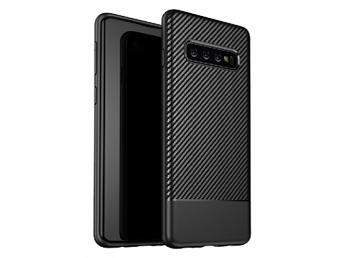 HELMET Carbon Fiber Armour Case - Samsung S10, Black
