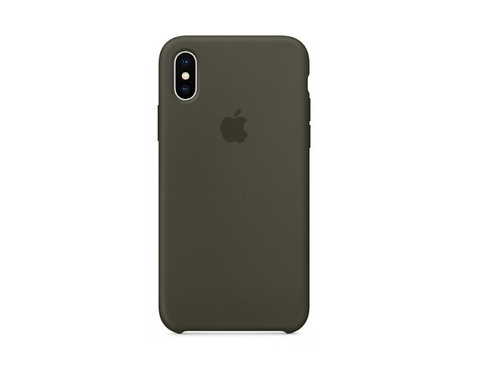 Silicone case for iPhone XS Dark Olive