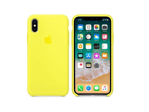 Silicone case for iPhone XS Max Yellow