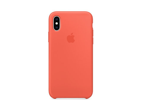 Silicone case for iPhone XS Nectarine
