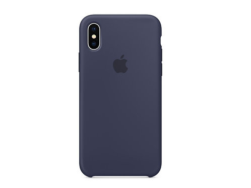 Silicone case for iPhone X Midnight Blue