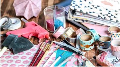 A picture of crafting supplies