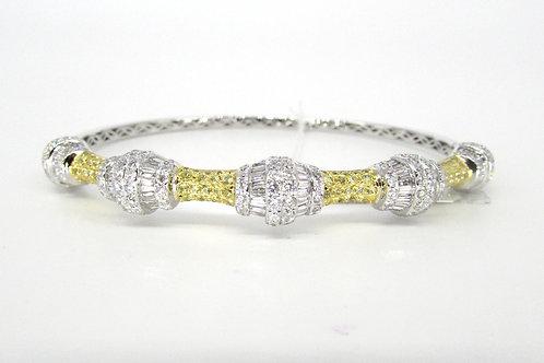 Fancy Shaped Yellow Sapphire Hard Bangle