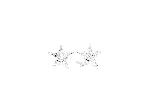 Pie-Cut Star Diamond Prong Set Simple Earring