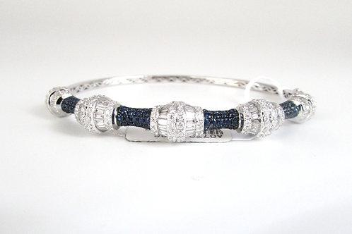 Fancy Shaped Blue Sapphire Hard Bangle