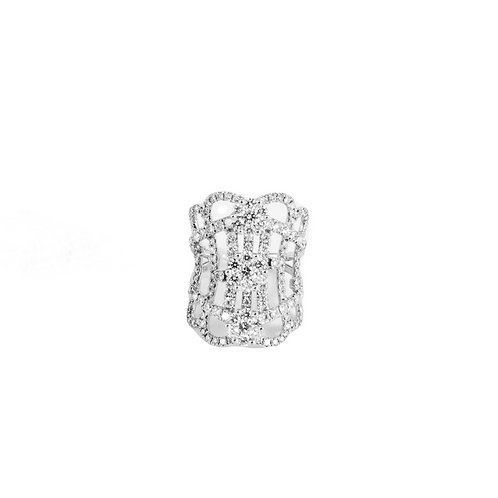 Triple Round Illusion Prong Set Long Split Band Ring