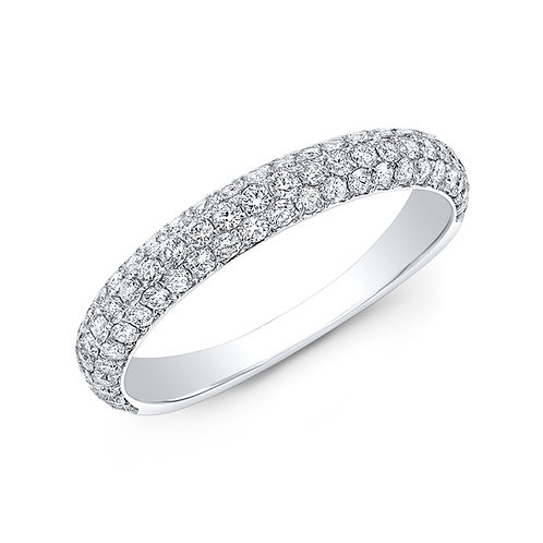 Micro-Pave Set Fully Filled White Gold Wedding Band