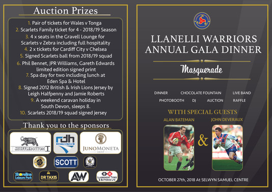 LLanelli Warriors Gala Programme PRINT-0