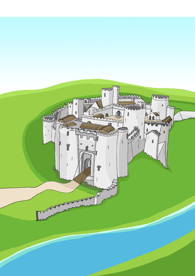 Kidwelly Castle 2 colour.jpg