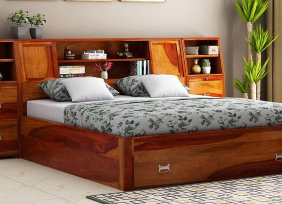 Storage Bed with Bedside