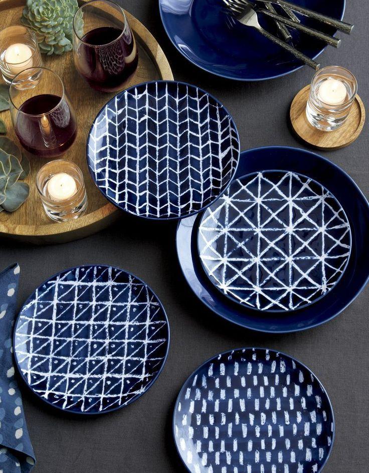 Marin Dark Blue Dinner Plate + Reviews _