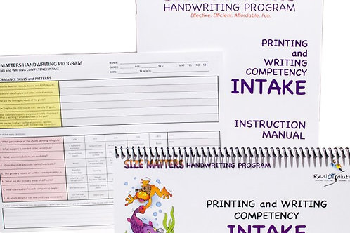 Printing and Writing Competency INTAKE