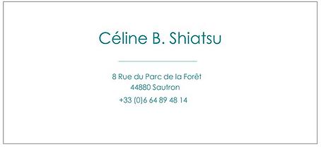 Bon cadeau Céline B. Shiatsu