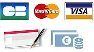 paiements acceptés : CB chèques espèces