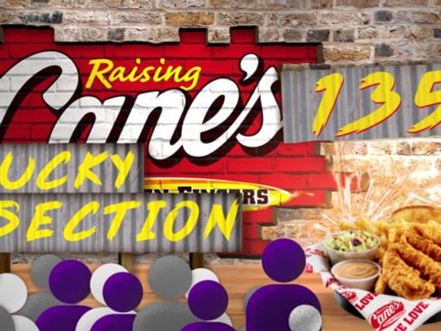 Raising Cane's   Lucky Section