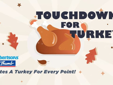 Albertson's Touchdowns for Turkeys