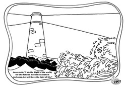 Colouring picture (Lighthouse)