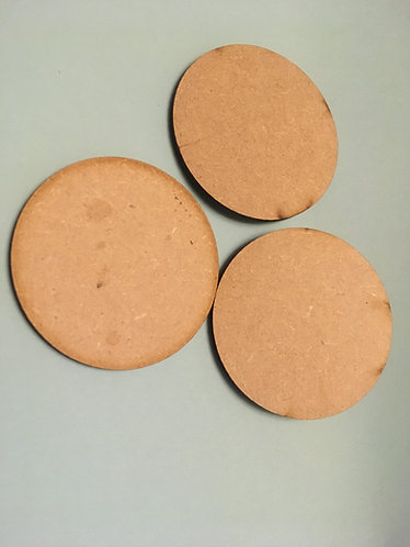 60mm Round (3mm MDF) pack of 6