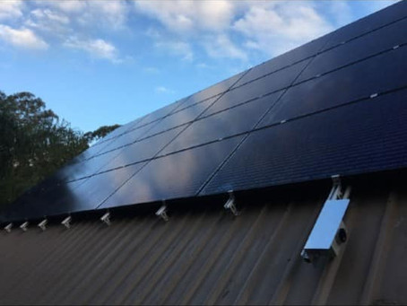 So you were told you can't have solar because of steep pitch?