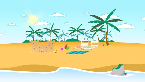 PC Bob- Beach Battle Background