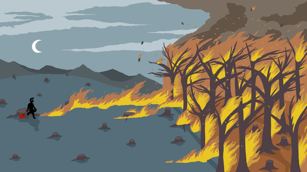 Forest Fire Illustration