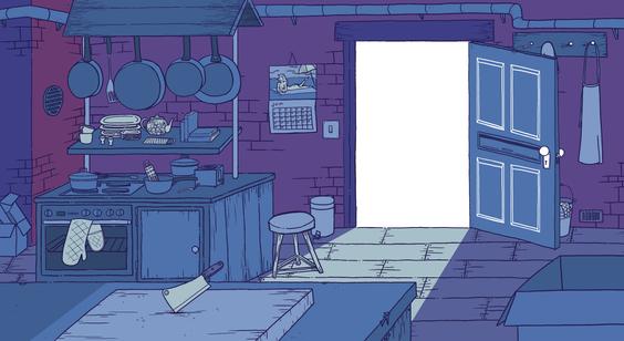Kitchen Interior Background/Layout