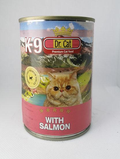 K9 Losos mačke 405 g - konzerva