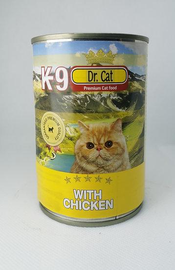 K9 Piletina mačke 405 g- konzerva