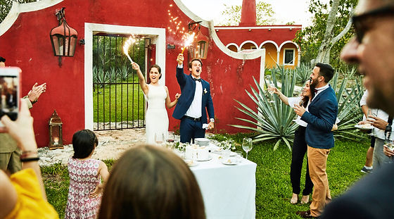 Married Couple Celebrating