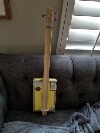 My second fretless with a neck over box design.  Jimmy G's guitar now.