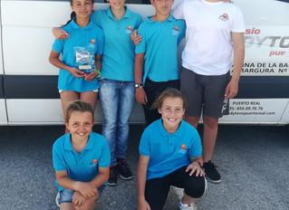 Lucía Alfaro sube al podium en el Campeonato de Andalucía de optimist