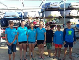 El equipo de optimist finaliza su pretemporada en aguas de RCMT Punta Umbría