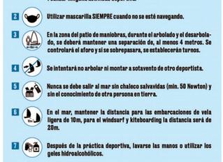 DECALOGO PARA LA PRACTICA DE LA VELA ANTE EL COVID-19