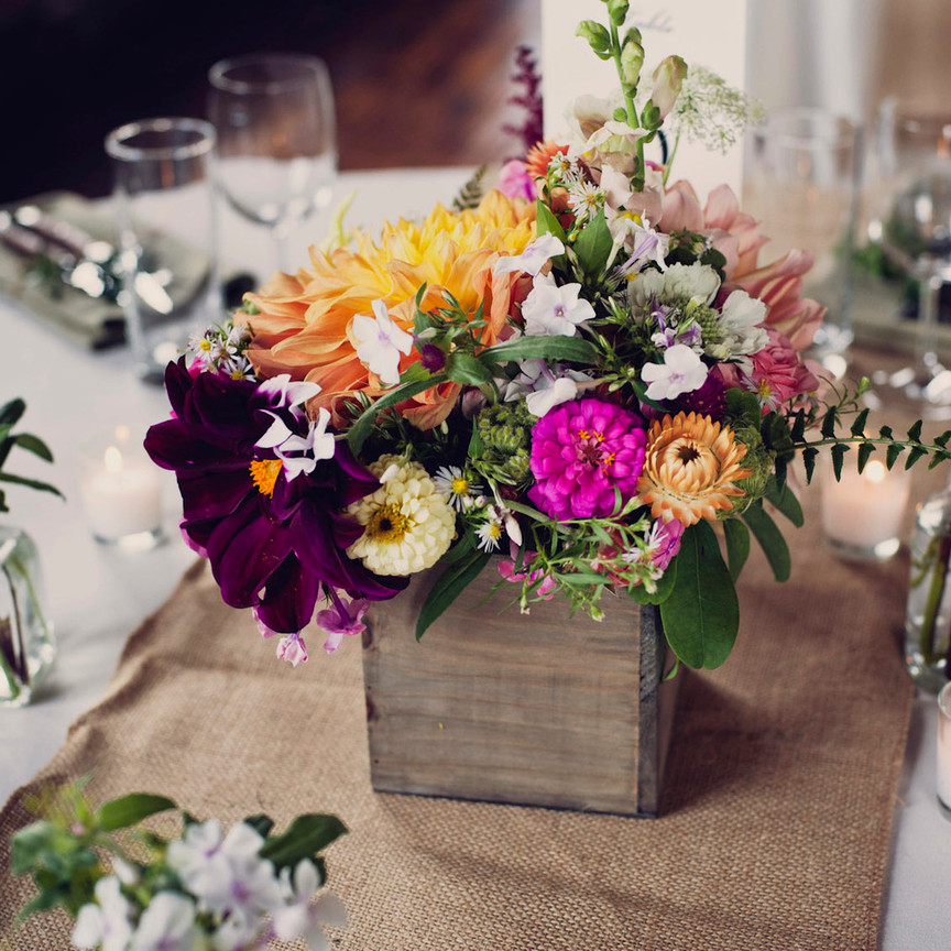 Centerpiece with Locally Grown Flowers