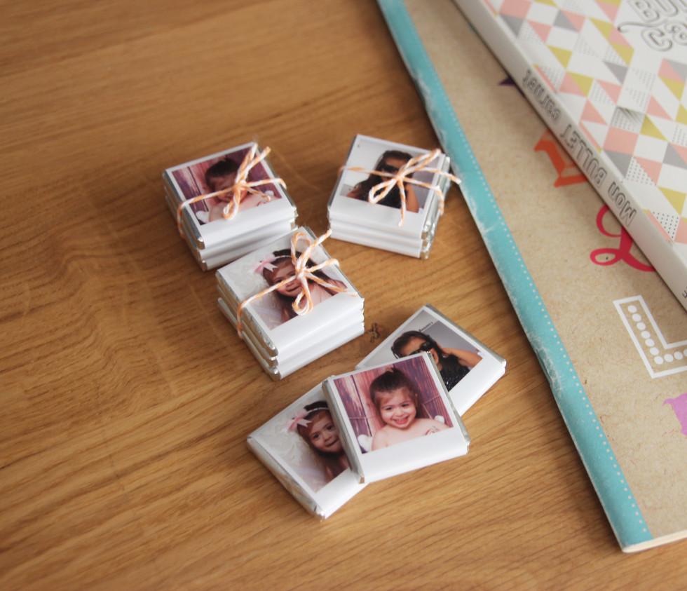 Conjunto de mini-chocolates personalizados