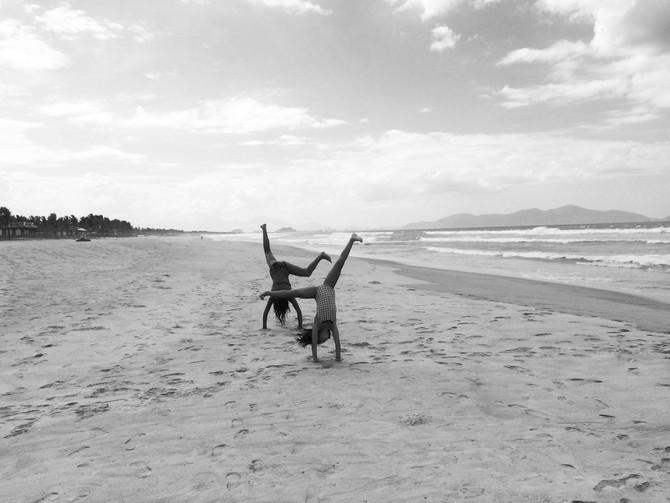 Um dia de praia perfeito, por favor.
