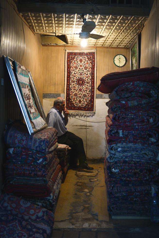 Carpet vendor, Grand Bazaar, Teheran, Iran