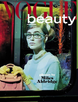 Miles Aldridge X Vogue Italia beauty