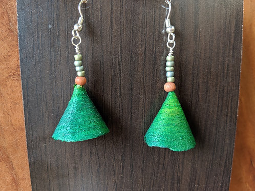 Alwan Earrings | Dyed Beech