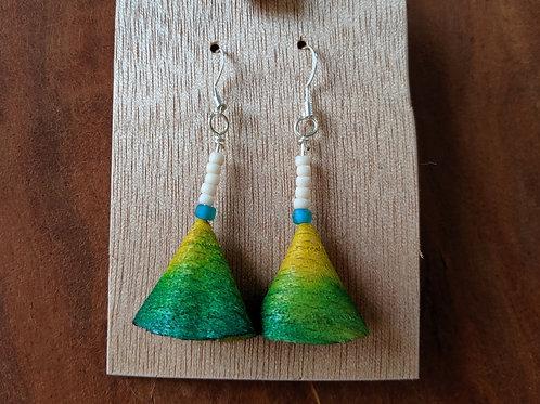 Alwan Earrings | Dyed Beech